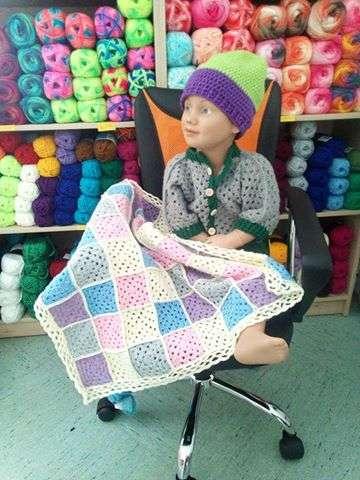 Baby Decken häkeln mit die Granny Muster