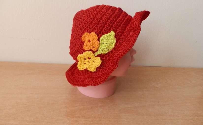 Baby Sommer Hut mit Blumen