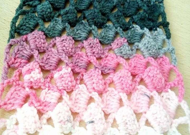 Schal häkeln mit einem schönen Muster - Made by Hany