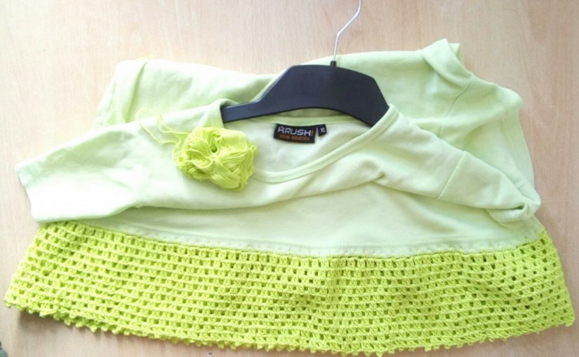 T-Shirt verschönern, verlängern oder Upcycling