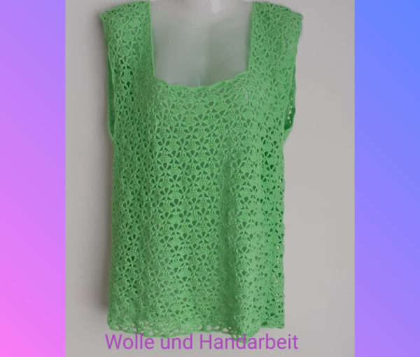 Sommer Bluse gehäkelt mit einem Fantasie-Muster